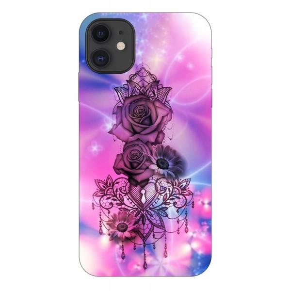 Husa Premium Upzz Print iPhone 11 Model Neon Rose imagine itelmobile.ro 2021