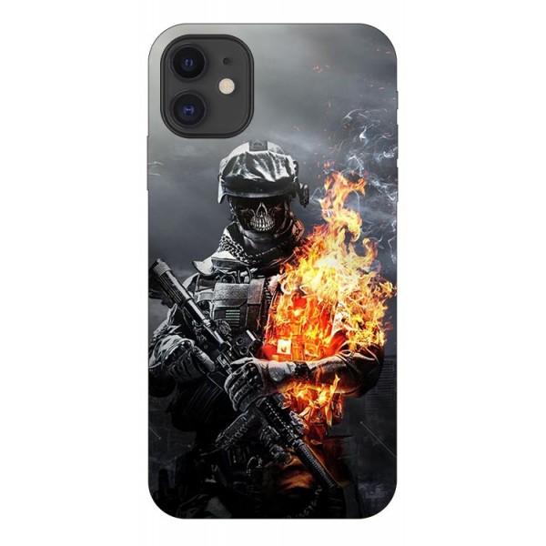 Husa Premium Upzz Print iPhone 11 Model Soldier imagine itelmobile.ro 2021