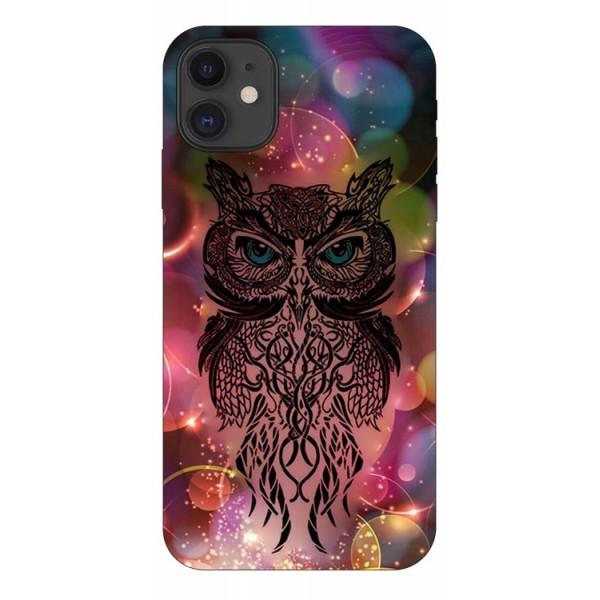 Husa Premium Upzz Print iPhone 11 Model Sparkle Owl imagine itelmobile.ro 2021
