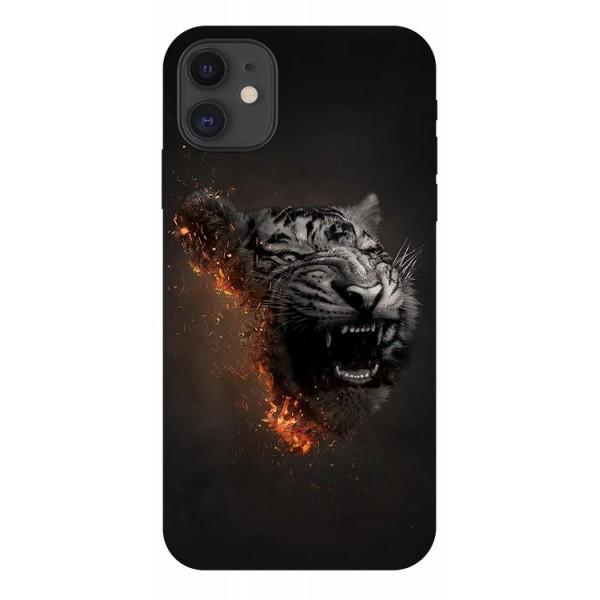 Husa Premium Upzz Print iPhone 11 Model Tiger imagine itelmobile.ro 2021