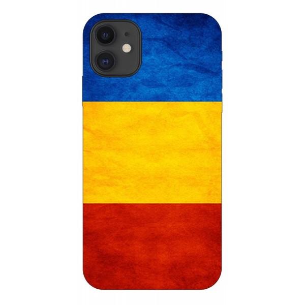 Husa Premium Upzz Print iPhone 11 Model Tricolor imagine itelmobile.ro 2021