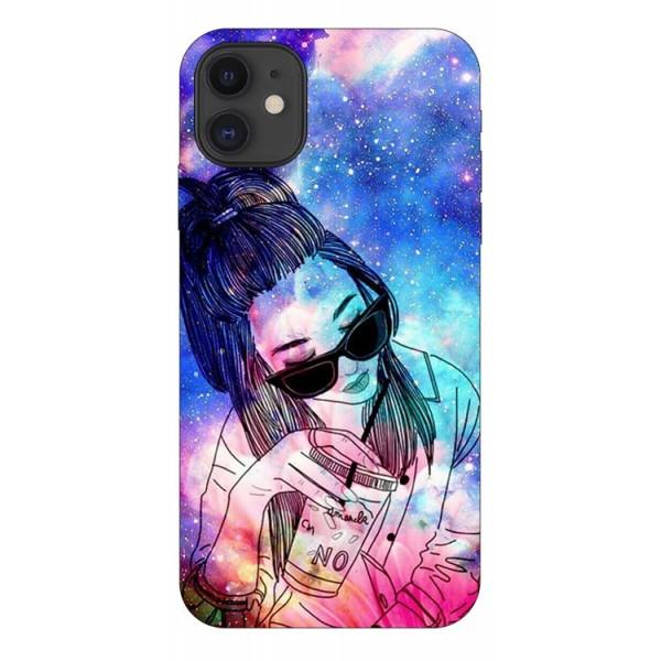 Husa Premium Upzz Print iPhone 11 Model Universe Girl imagine itelmobile.ro 2021