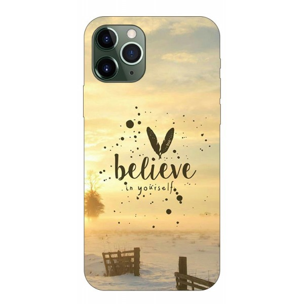 Husa Premium Upzz Print iPhone 11 Pro Model Believe imagine itelmobile.ro 2021