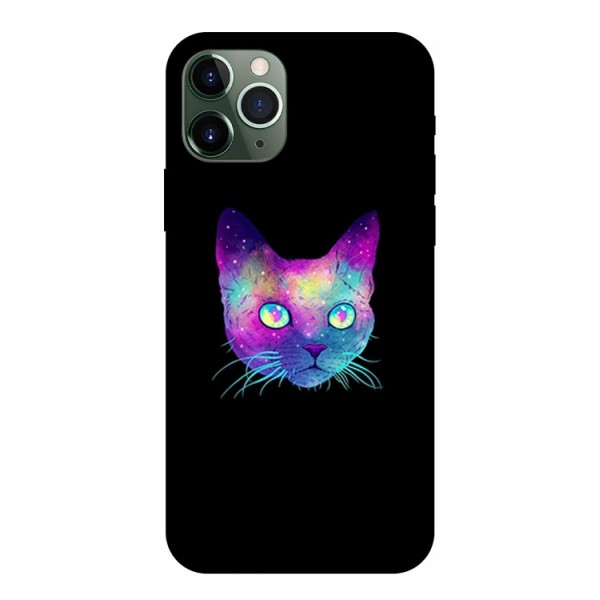 Husa Premium Upzz Print iPhone 11 Pro Model Neon Cat imagine itelmobile.ro 2021