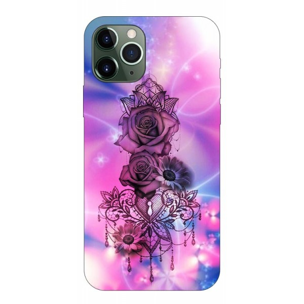 Husa Premium Upzz Print iPhone 11 Pro Model Neon Rose imagine itelmobile.ro 2021