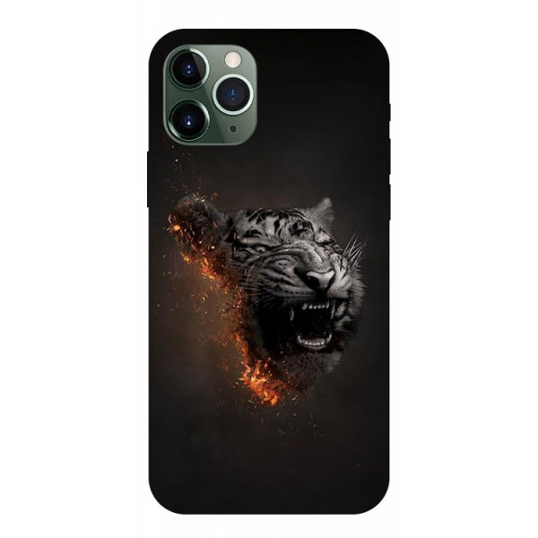 Husa Premium Upzz Print iPhone 11 Pro Model Tiger imagine itelmobile.ro 2021
