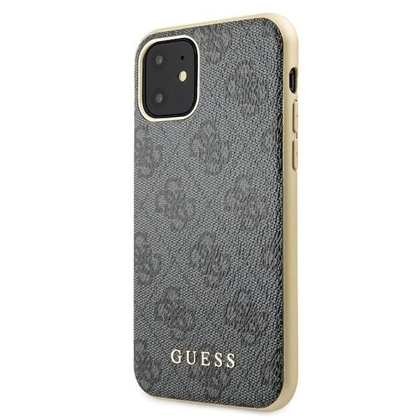 Husa Premium Originala Guess Charm Edition iPhone 11 Gri Guhcn61g4gg imagine itelmobile.ro 2021