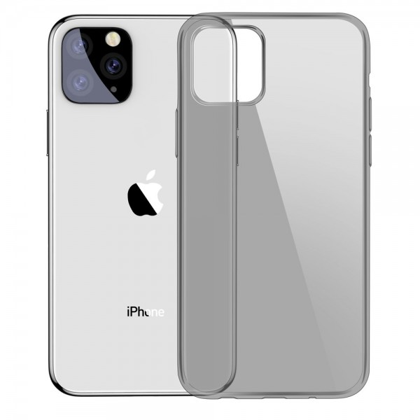 Husa Spate Originala Baseus Simple iPhone 11 Pro Fumurie imagine itelmobile.ro 2021
