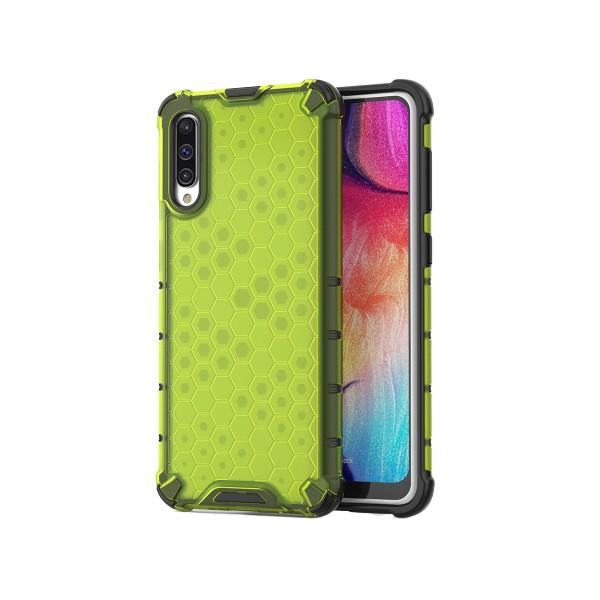 Husa Uppz Honeycomb Samsung Galaxy A70 ,anti-shock,verde imagine itelmobile.ro 2021