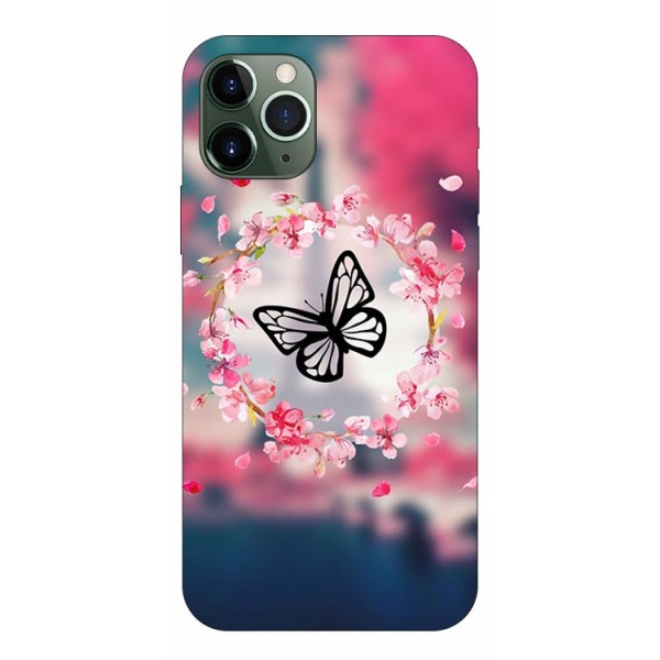 Husa Premium Upzz Print iPhone 11 Pro Max Model Butterfly imagine itelmobile.ro 2021