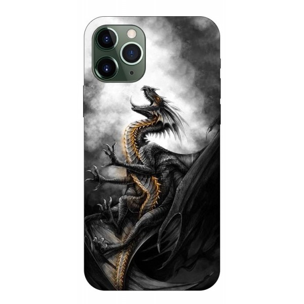 Husa Premium Upzz Print iPhone 11 Pro Max Model Dragon 1 imagine itelmobile.ro 2021