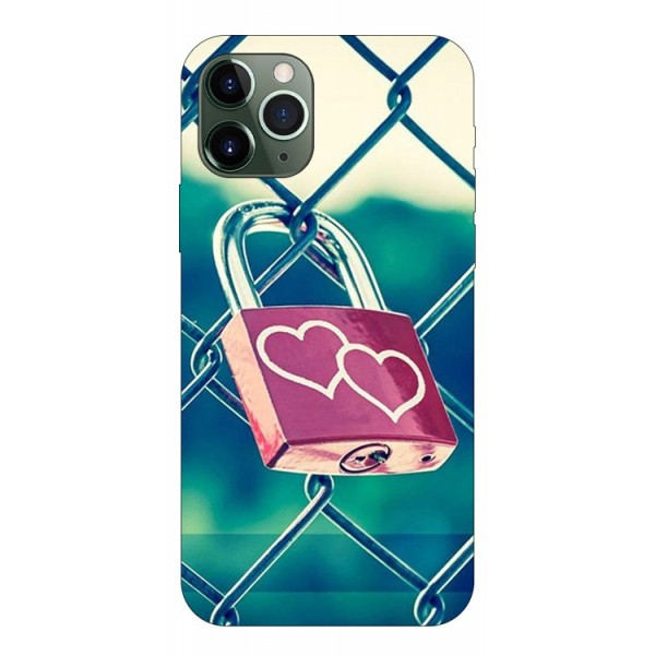 Husa Premium Upzz Print iPhone 11 Pro Max Model Heart Lock imagine itelmobile.ro 2021