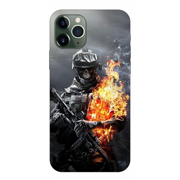 Husa Premium Upzz Print iPhone 11 Pro Max Model Soldier imagine itelmobile.ro 2021