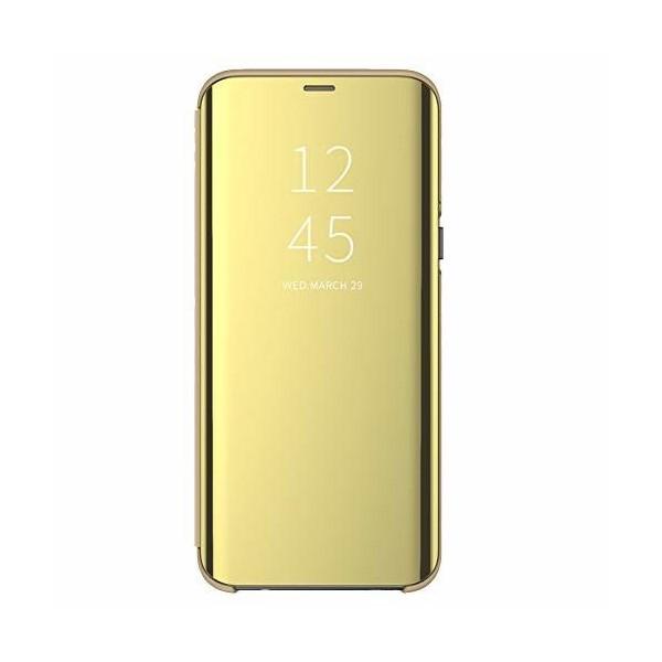 Husa Tip Carte Mirror Huawei P30 Lite Cu Folie Sticla Upzz Glass Inclusa In Pachet, Gold imagine itelmobile.ro 2021