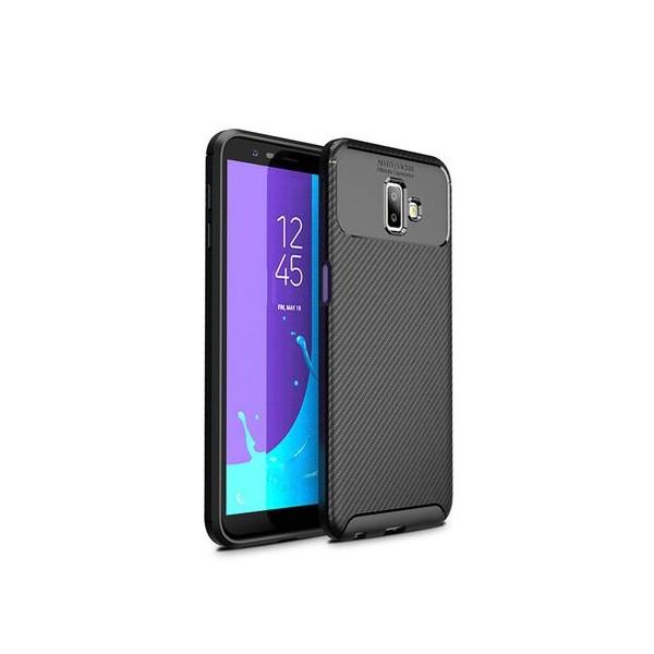 Husa Premium Rugged Carbon New Auto Focus Samsung Galaxy J4+ 2018 imagine itelmobile.ro 2021