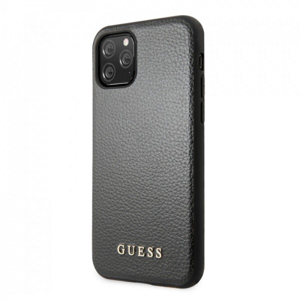 Husa Premium Guess Iridescent iPhone 11 Pro Negru imagine itelmobile.ro 2021