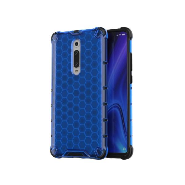 Husa Uppz Honeycomb Xiaomi Mi 9t / Xiaomi Mi 9t Pro,albastru imagine itelmobile.ro 2021