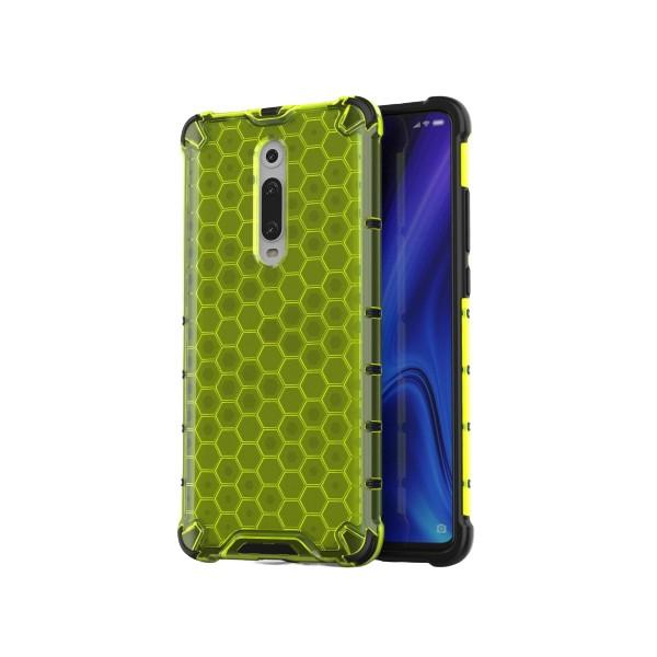Husa Uppz Honeycomb Xiaomi Mi 9t / Xiaomi Mi 9t Pro,verde imagine itelmobile.ro 2021