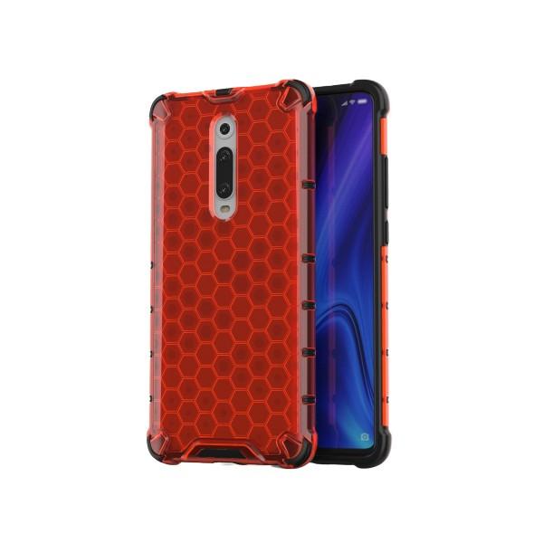 Husa Uppz Honeycomb Xiaomi Mi 9t / Xiaomi Mi 9t Pro,red imagine itelmobile.ro 2021