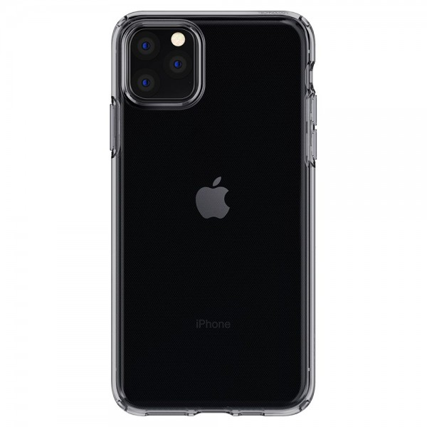 Husa Premium Spigen Liquid Crystal iPhone 11 Pro Transparenta Fumurie imagine itelmobile.ro 2021