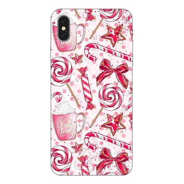 Husa Slim Silicon Upzz X-mass Print iPhone X/xs Model Sweet imagine itelmobile.ro 2021