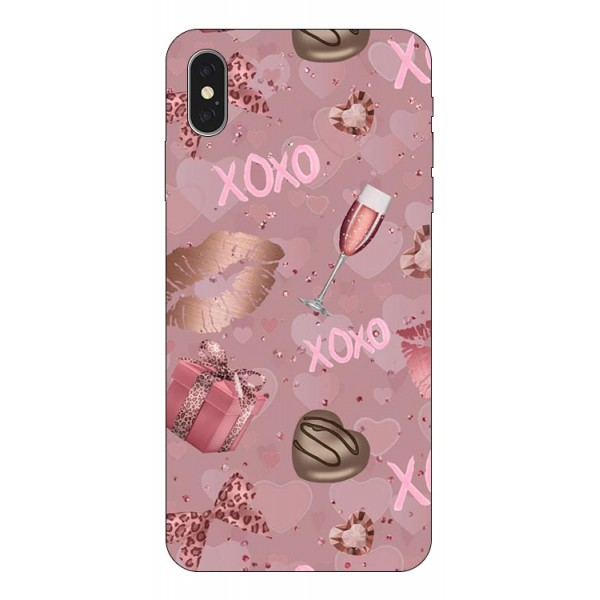 Husa Slim Silicon Upzz X-mass Print iPhone X/xs Model Xoxo imagine itelmobile.ro 2021