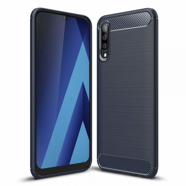 Husa Spate Forcell Carbon Pro Samsung Galaxy A50 Dark Blue imagine itelmobile.ro 2021