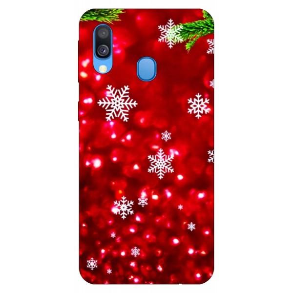 Husa Slim Silicon Upzz X-mass Print Samsung Galaxy A40 Model Fulgi 3 imagine itelmobile.ro 2021
