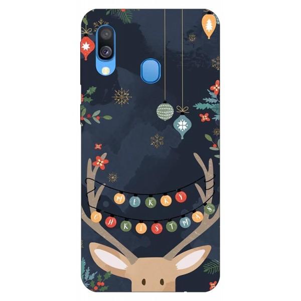 Husa Slim Silicon Upzz X-mass Print Samsung Galaxy A40 Model Ren imagine itelmobile.ro 2021