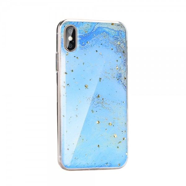 Husa Spate Forcell Marble Silicone iPhone X/xs Model 3 imagine itelmobile.ro 2021