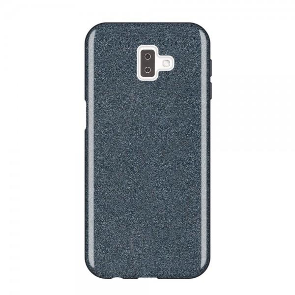 Husa Spate Upzz Shiny Lux Samsung J6+ Plus 2018 Negru imagine itelmobile.ro 2021