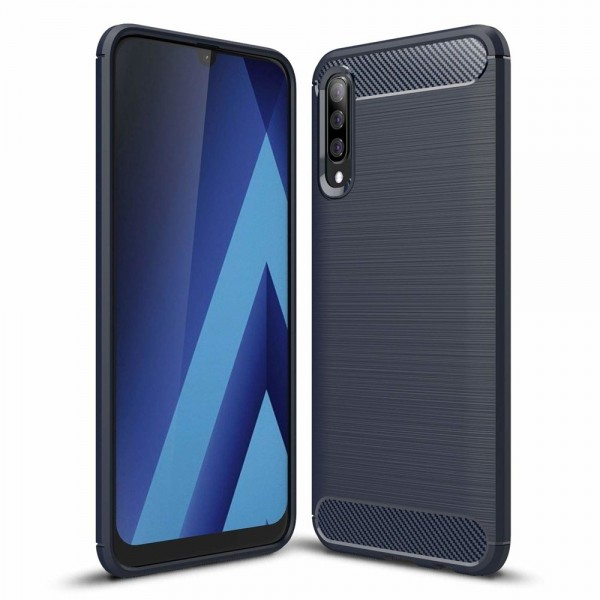 Husa Spate Forcell Carbon Pro Samsung Galaxy A70 Blue Silicon imagine itelmobile.ro 2021