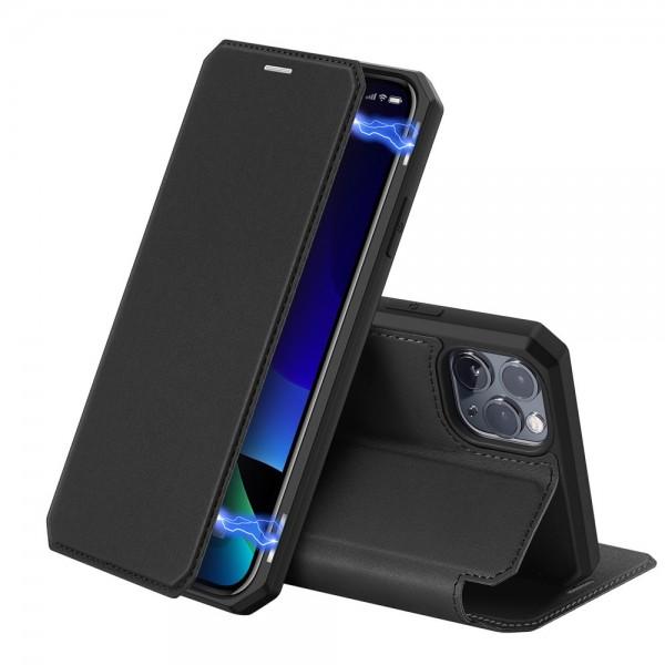 Husa Premium Duxducis Skin X iPhone 11 Pro Negru Flip Cover imagine itelmobile.ro 2021