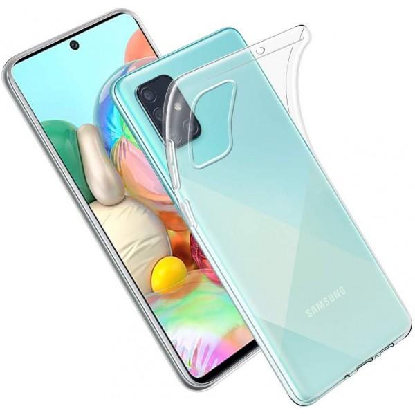 Husa Spate Silicon Ultra Slim Upzz Compatibila Cu Samsung Galaxy A51 Transparenta imagine itelmobile.ro 2021