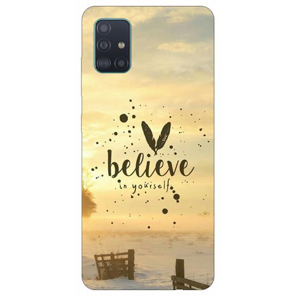 Husa Silicon Soft Upzz Print Samsung Galaxy A51 Model Believe imagine itelmobile.ro 2021