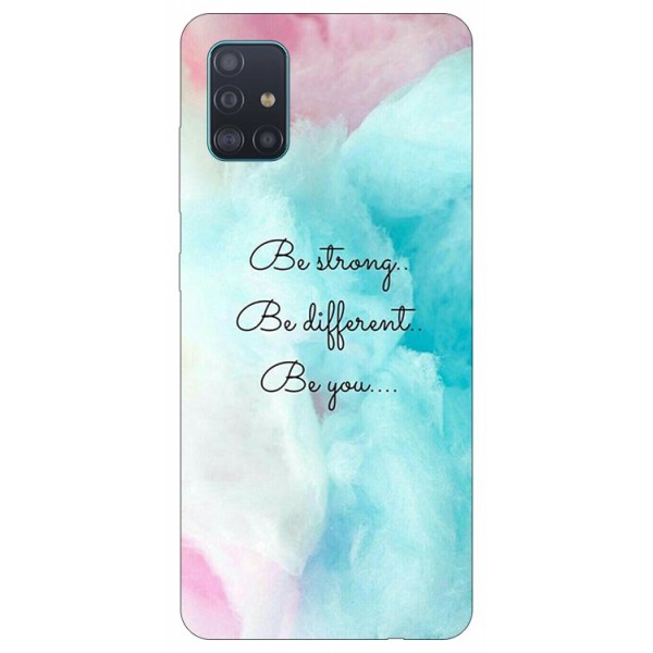 Husa Silicon Soft Upzz Print Samsung Galaxy A71 Model Be You imagine itelmobile.ro 2021