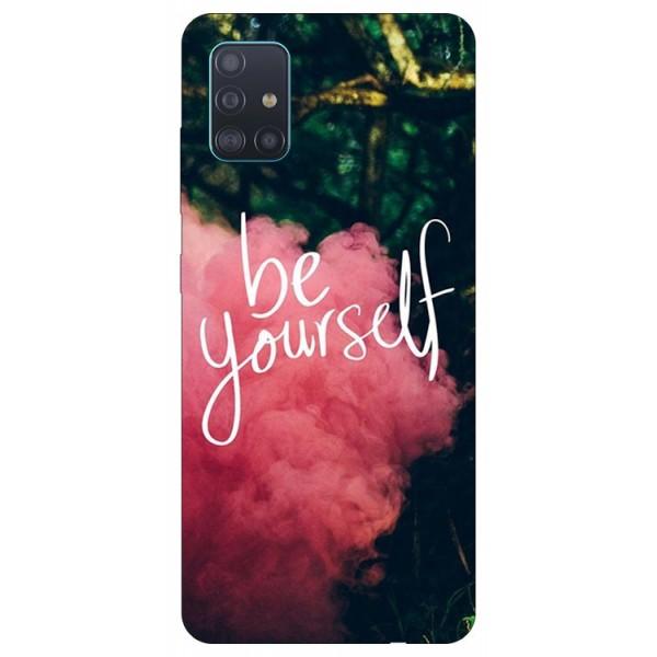 Husa Silicon Soft Upzz Print Samsung Galaxy A71 Model Be Yourself imagine itelmobile.ro 2021