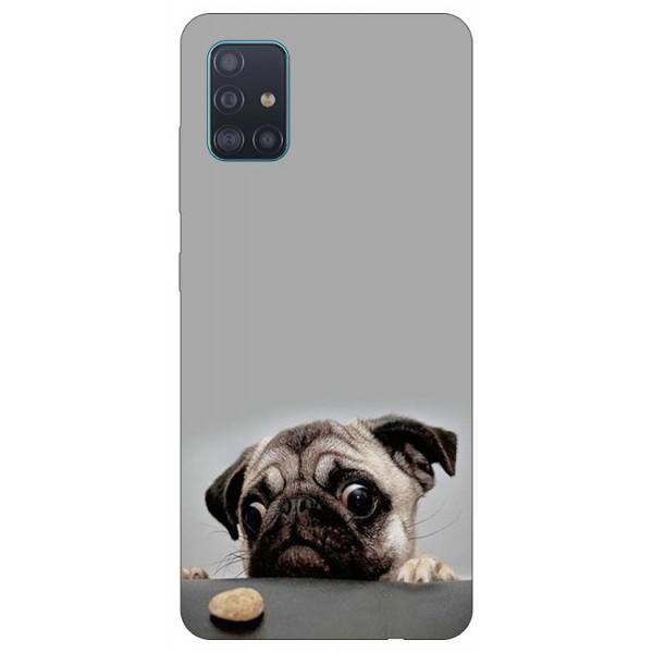 Husa Silicon Soft Upzz Print Samsung Galaxy A51 Model Dog imagine itelmobile.ro 2021