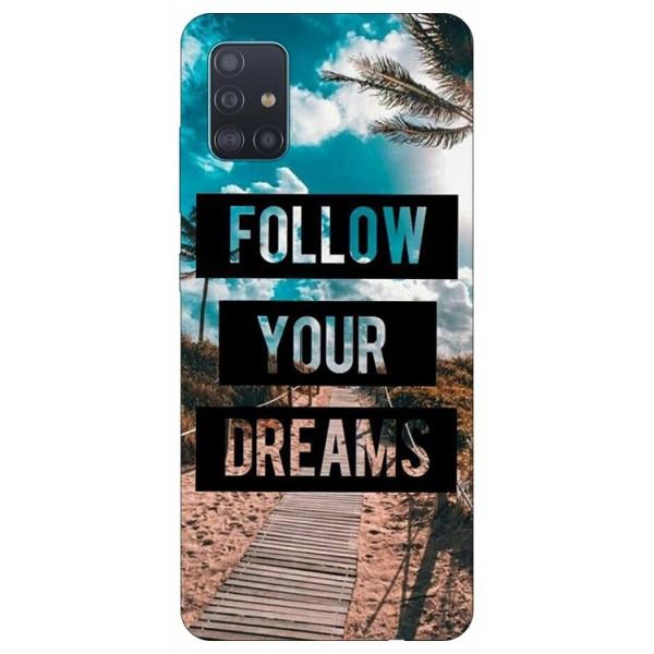 Husa Silicon Soft Upzz Print Samsung Galaxy A51 Model Dreams imagine itelmobile.ro 2021