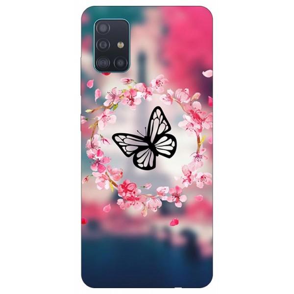 Husa Silicon Soft Upzz Print Samsung Galaxy A71 Model Butterfly imagine itelmobile.ro 2021
