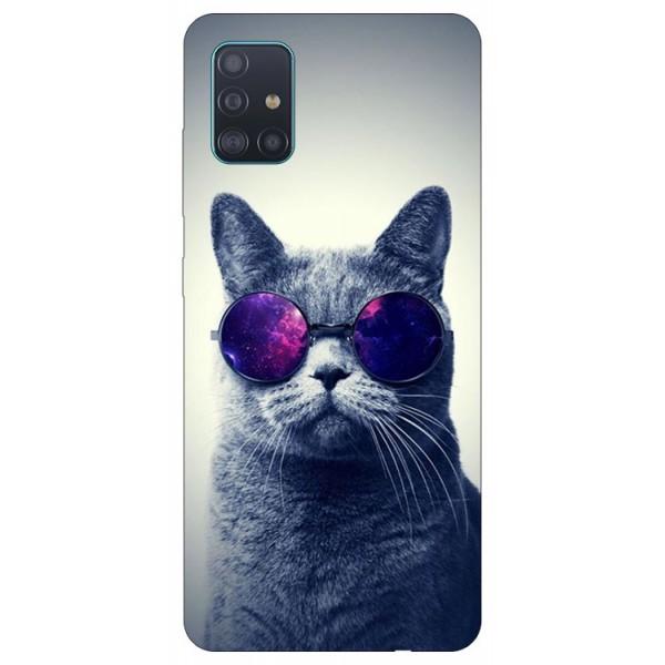 Husa Silicon Soft Upzz Print Samsung Galaxy A71 Model Cool Cat imagine itelmobile.ro 2021