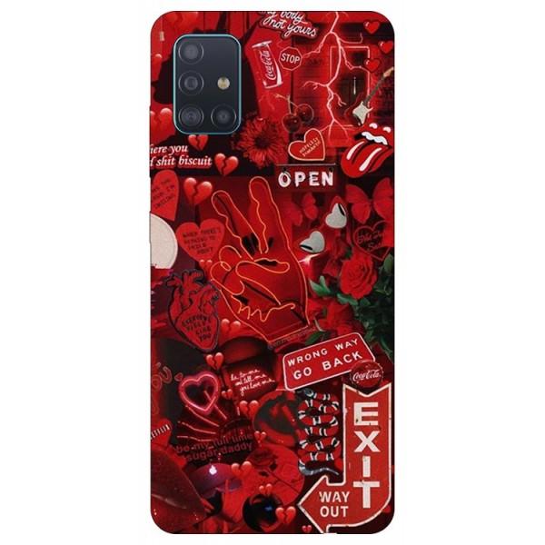 Husa Silicon Soft Upzz Print Samsung Galaxy A51 Model Exit imagine itelmobile.ro 2021
