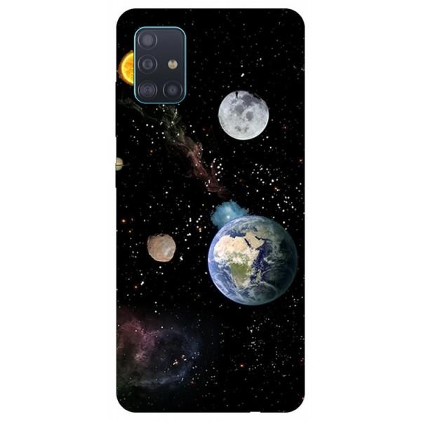 Husa Silicon Soft Upzz Print Samsung Galaxy A71 Model Earth imagine itelmobile.ro 2021