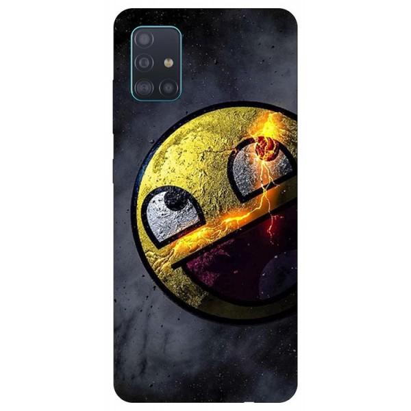 Husa Silicon Soft Upzz Print Samsung Galaxy A51 Model Smile 1 imagine itelmobile.ro 2021