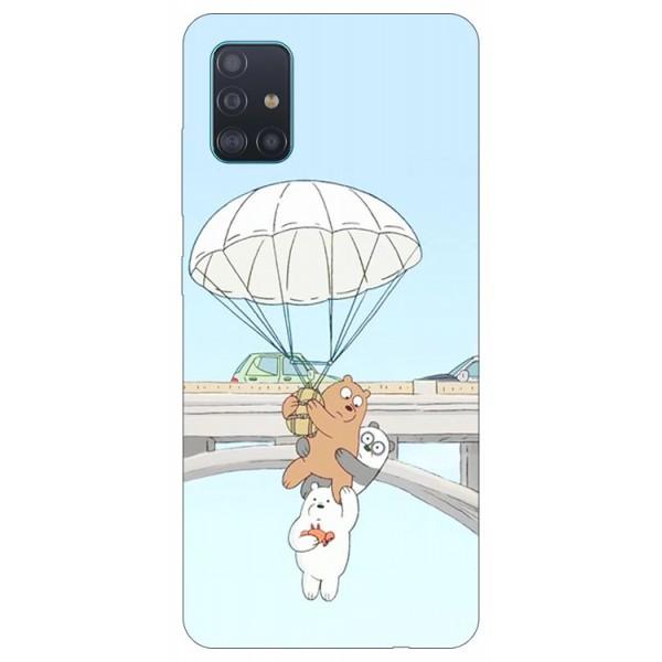 Husa Silicon Soft Upzz Print Samsung Galaxy A51 Model Three Bears imagine itelmobile.ro 2021