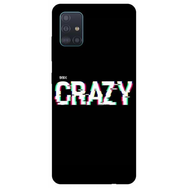 Husa Silicon Soft Upzz Print Samsung Galaxy A51 Model Crazy imagine itelmobile.ro 2021