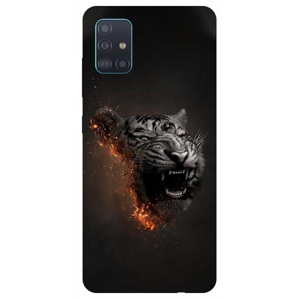 Husa Silicon Soft Upzz Print Samsung Galaxy A71 Model Tiger imagine itelmobile.ro 2021