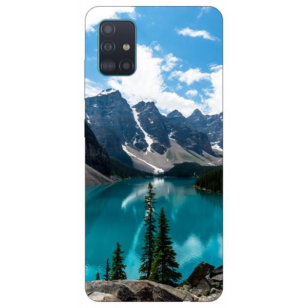 Husa Silicon Soft Upzz Print Samsung Galaxy A71 Model Blue imagine itelmobile.ro 2021