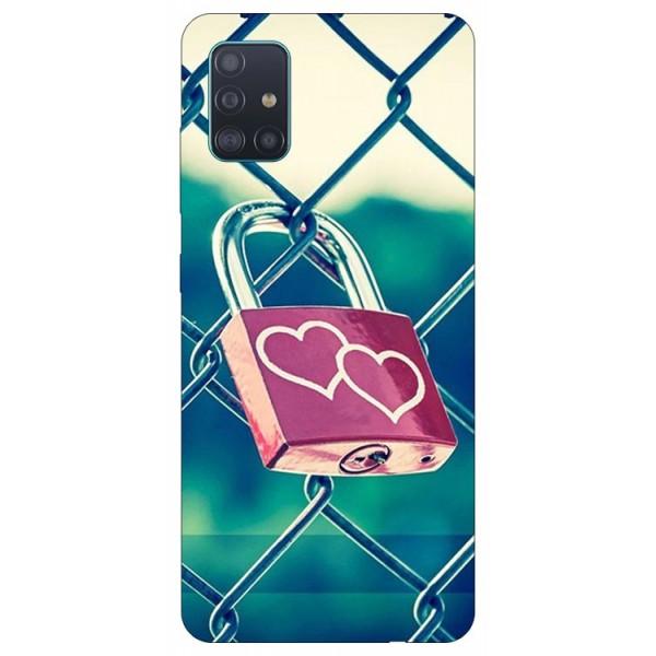 Husa Silicon Soft Upzz Print Samsung Galaxy A51 Model Heart Lock imagine itelmobile.ro 2021