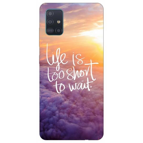 Husa Silicon Soft Upzz Print Samsung Galaxy A51 Model Life imagine itelmobile.ro 2021